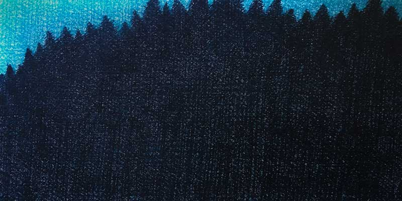 This dangerous, blue, forest of creativity.